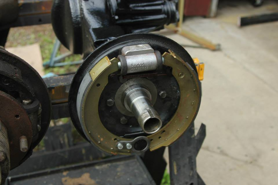 The axles are refurbished and the brakes are completely rebuilt using genuine Land Rover wheel cylinders.