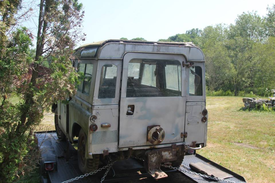 Original condition, back of Land Rover