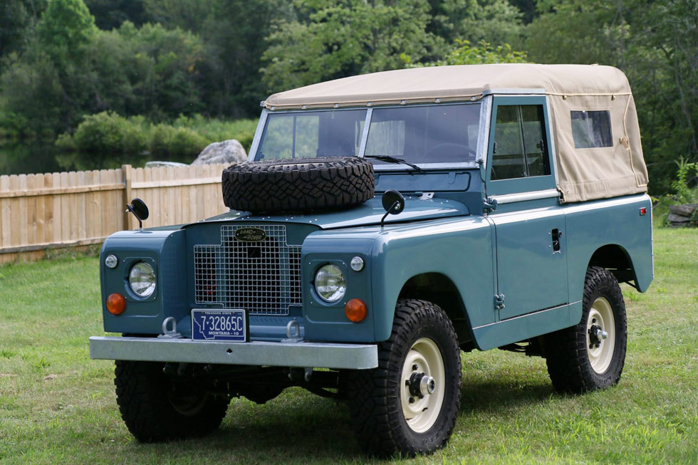 Fully restored 1969 Land Rover Series IIa.
