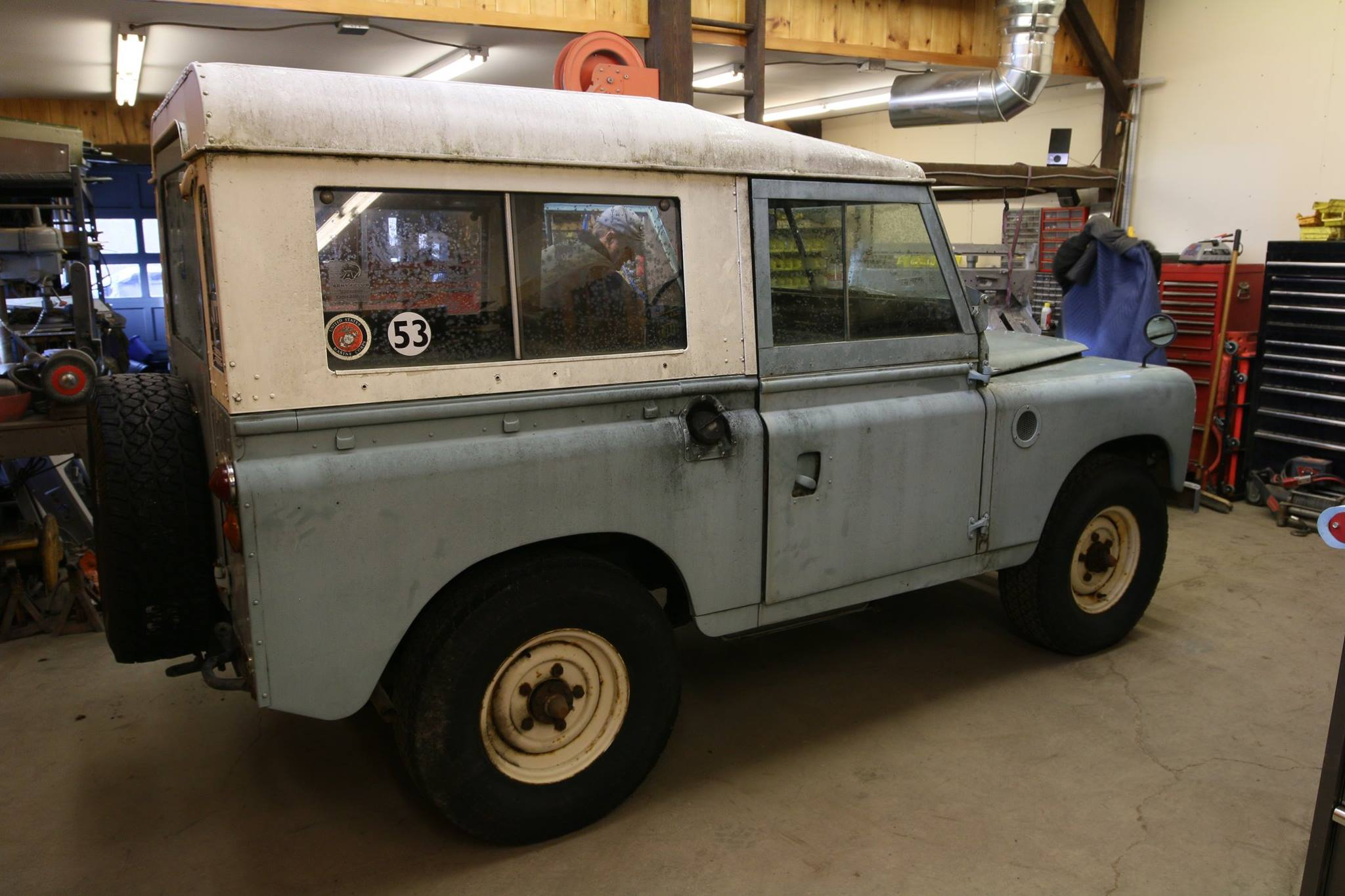 Under the skin, this Land Rover has rust and corrosion.