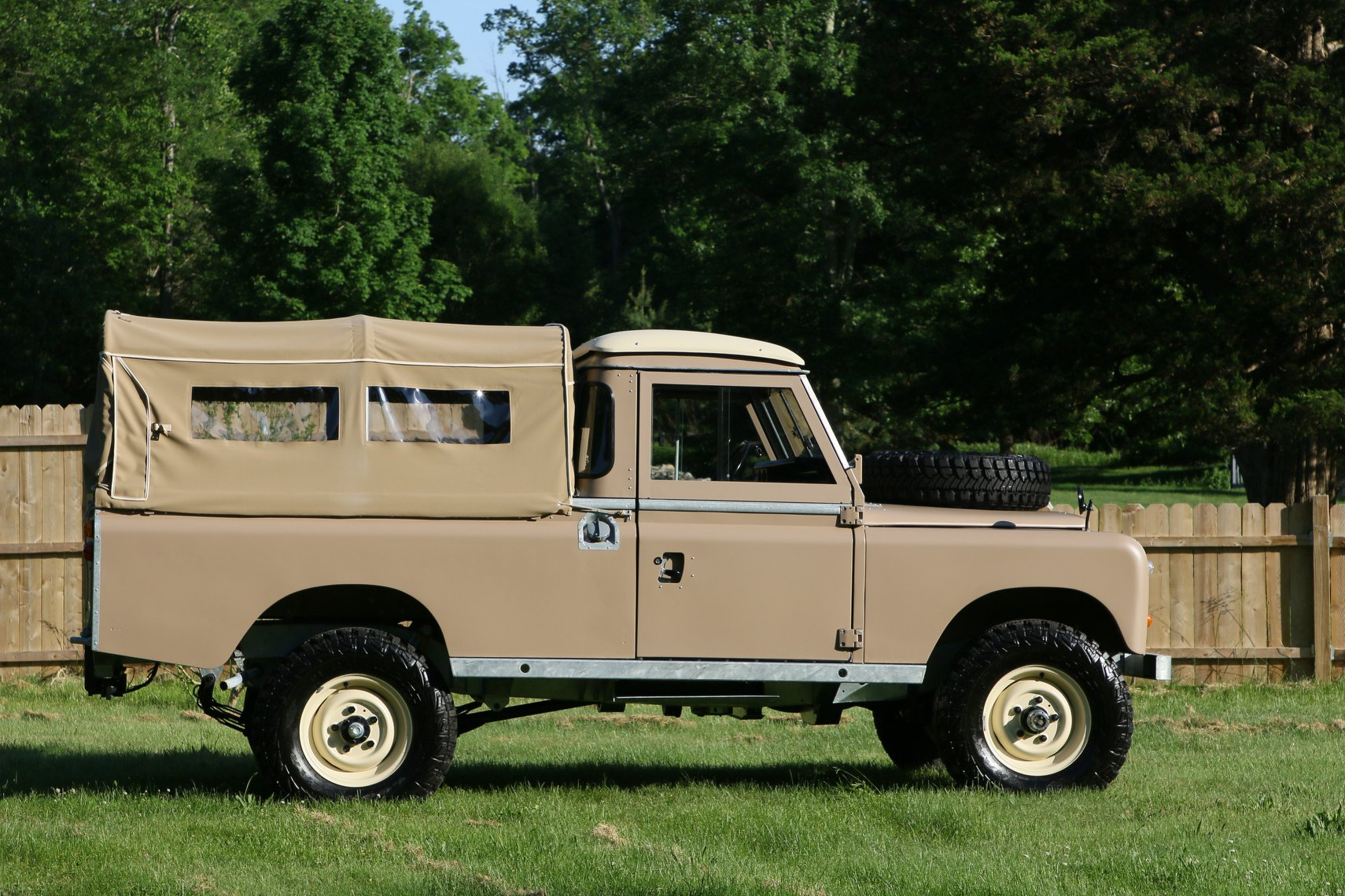 1972 Land Rover Series II 109 Inch Pickup Restoration Photo ao