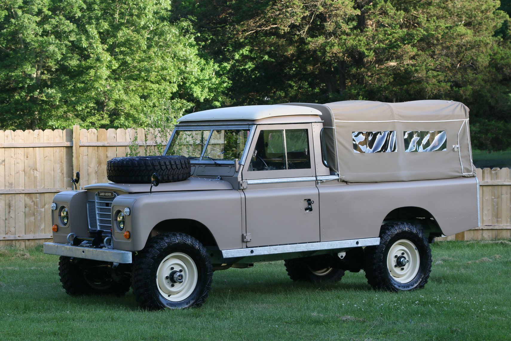 1972 Land Rover Series II 109 Inch Pickup Restoration Photo ar
