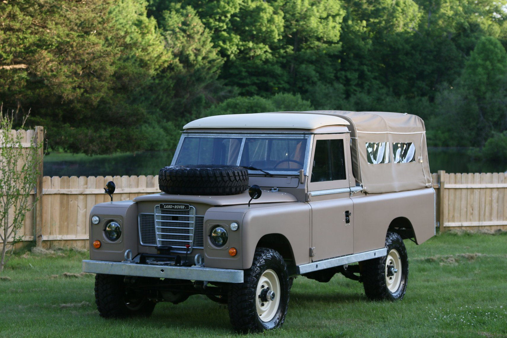1972 Land Rover Series II 109 Inch Pickup Restoration Photo as
