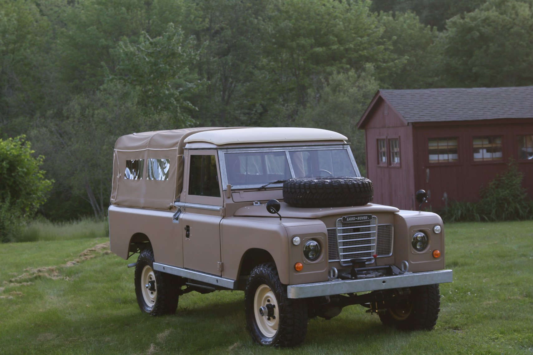 1972 Land Rover Series II 109 Inch Pickup Restoration Photo at