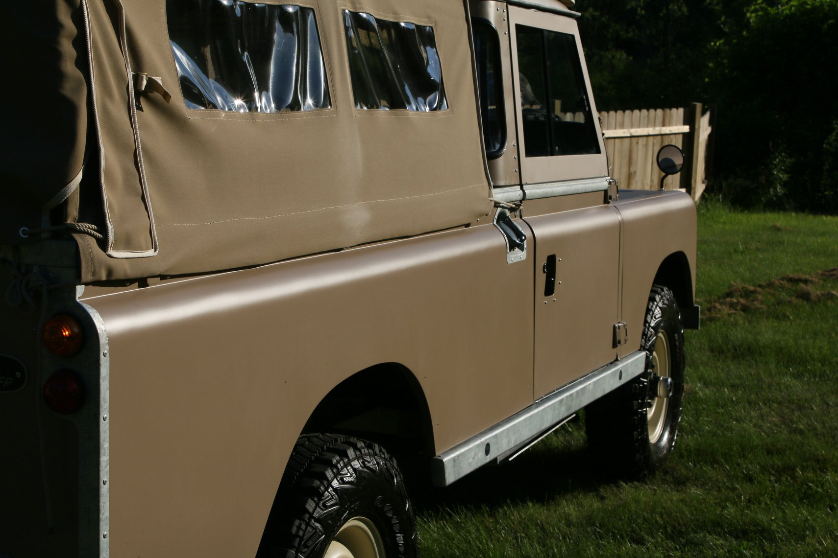 1972 Land Rover Series II 109 Inch Pickup Restoration Photo c