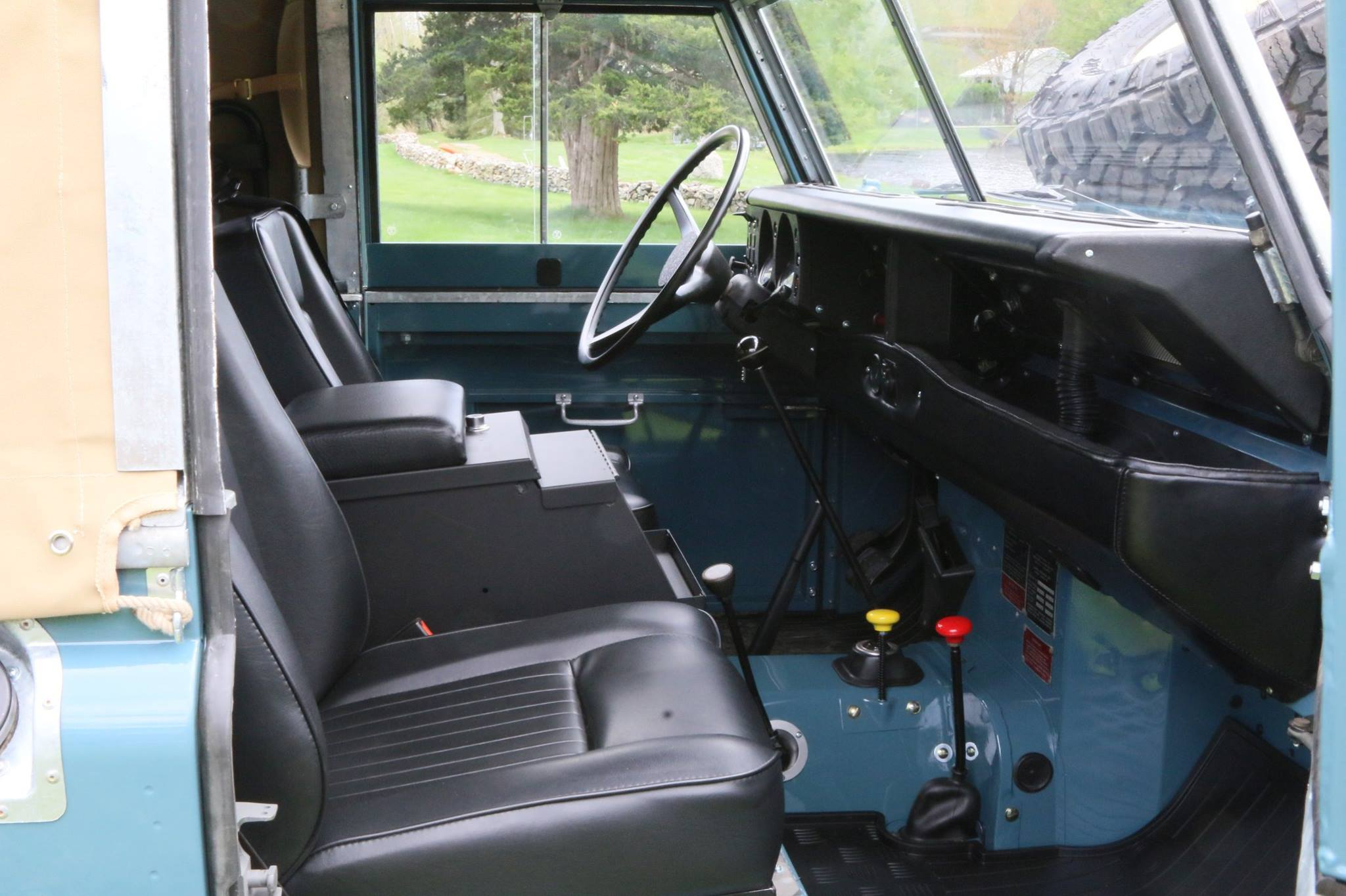 Land Rover Series III with new interior.