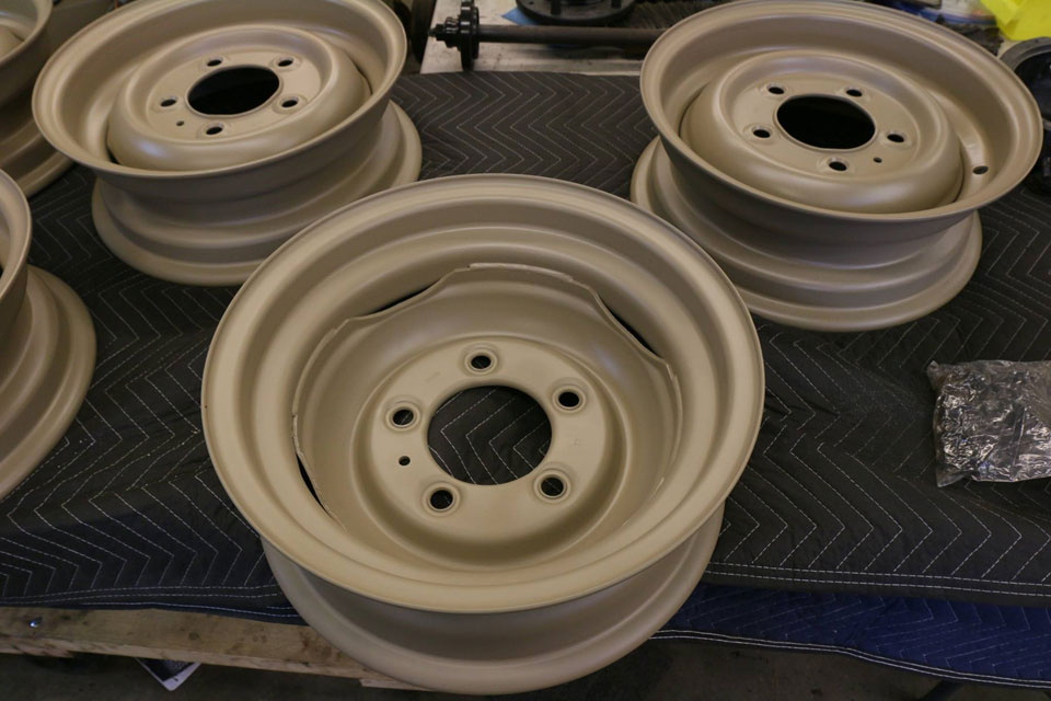 NAO Expedition Tan painted wheels by North America Overland.