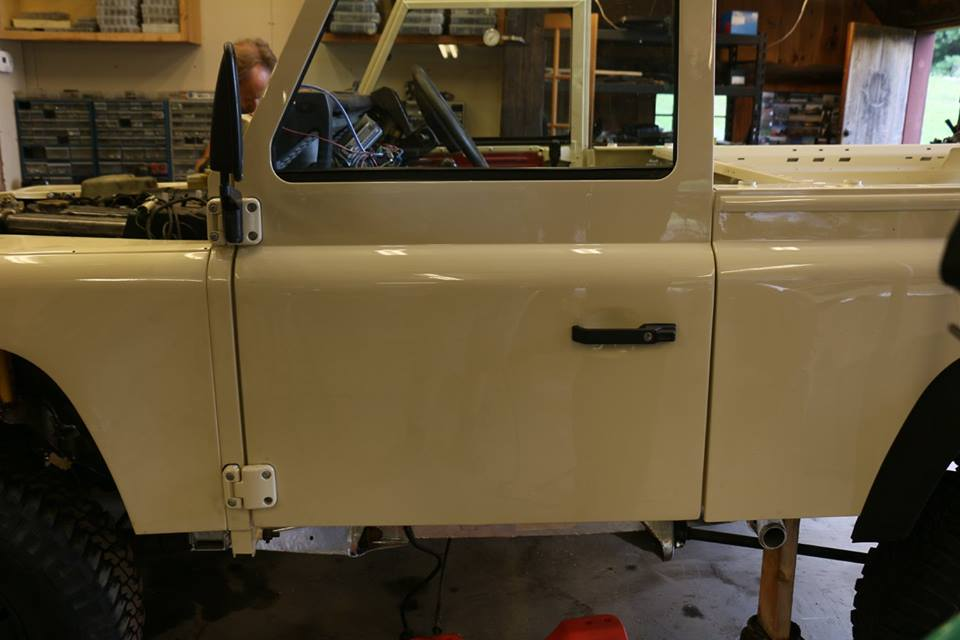 New doors are hung and aligned. & 1984 Land Rover Defender - North America Overland
