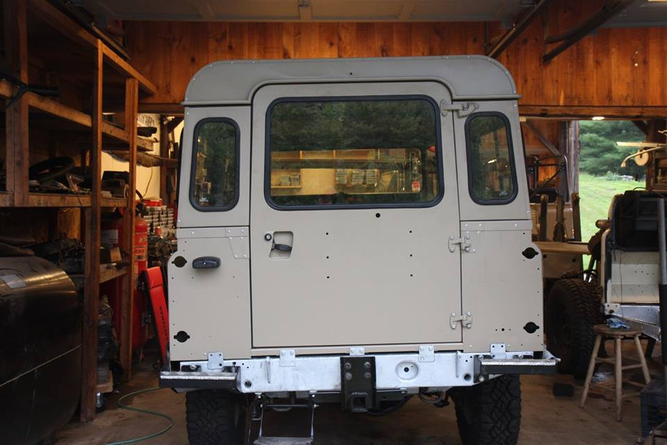 The Puma rear door is installed as well as rear bumperettes and receiver hitch.