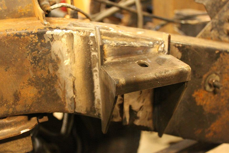 300tdi motor mounts are welded to the frame.