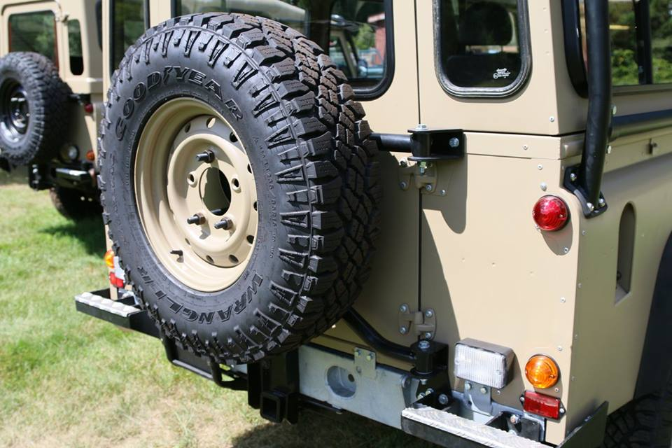 Pictured is the heavy duty tire carrier.