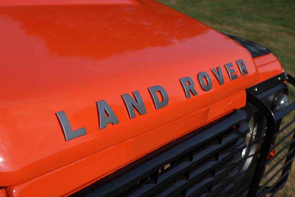 Correct Land Rover lettering is meticulously applied to the hood.