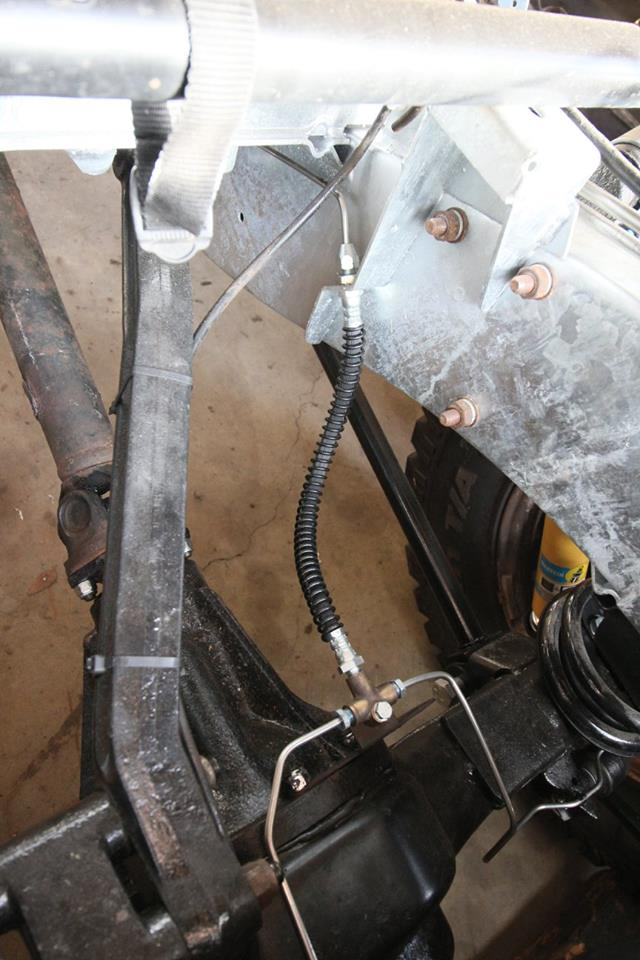 All new stainless steel brake lines are installed as well as genuine Land Rover brake hoses.