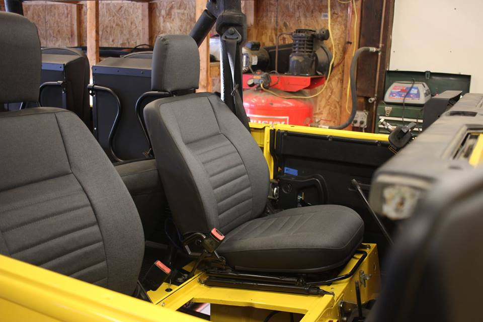 The seats are re-upholstered and seat heaters are added.
