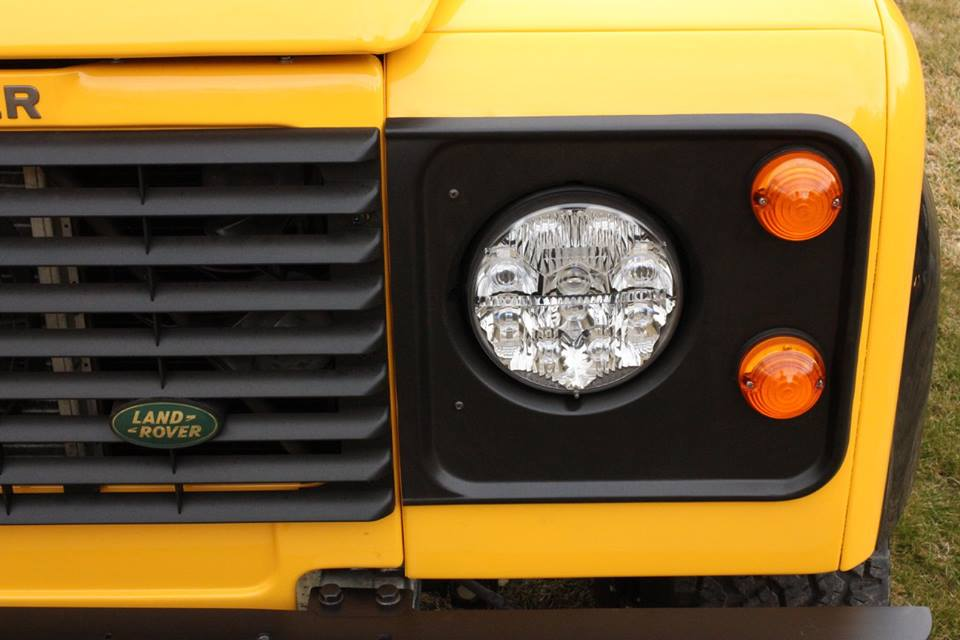 New genuine Land Rover headlight surrounds, grille and grille logo are installed as well as LED headlights.