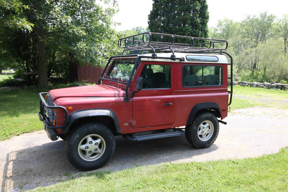 1997 land rover defender 90. the 1997 land rover d90 as it arrived in shop defender 90