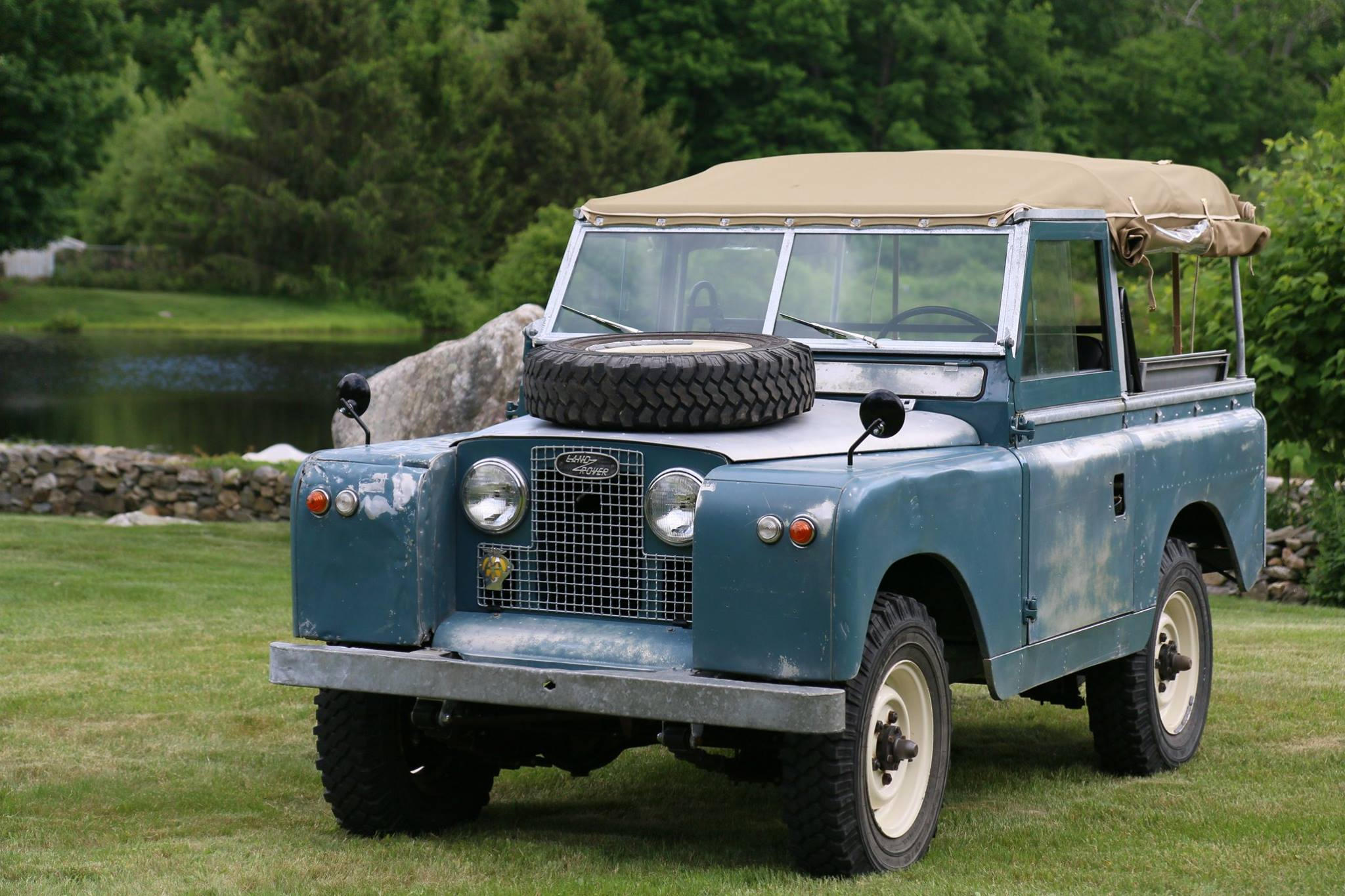 1962 Land Rover Series IIa Marine Blue Patina