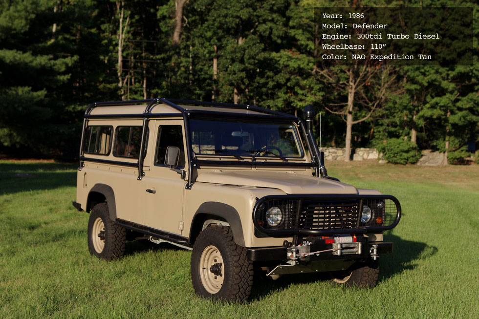 1986 Land Rover 300tdi Turbo Diesel Restoration Specifications