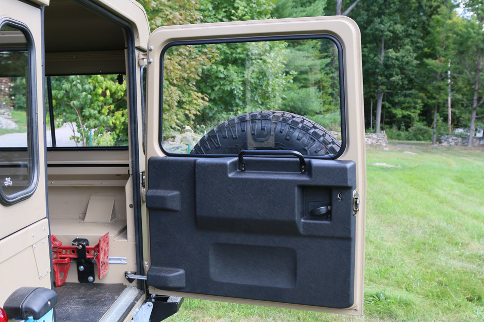 Land Rover Defender Galvanized Rear Door on Land Rover Trailer Hitch Wiring
