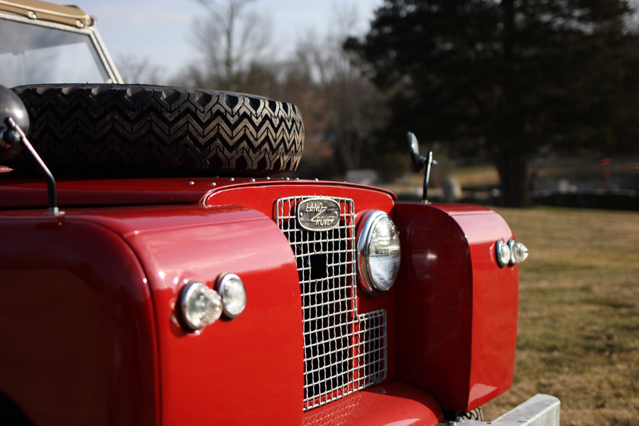 Land Rover Faschia Red