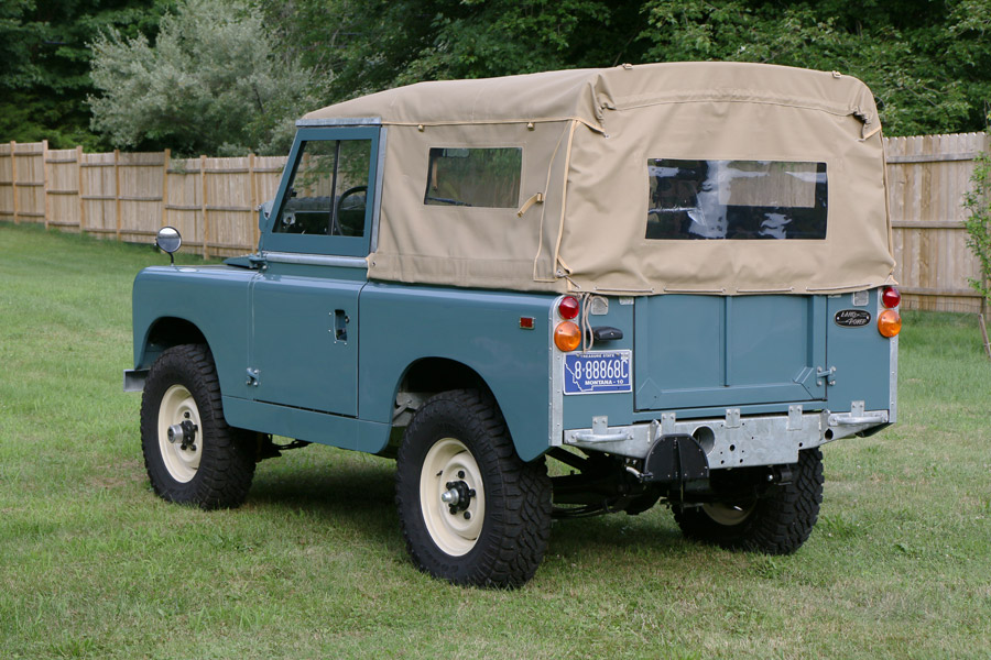 Rear view of Land Rover Series IIa