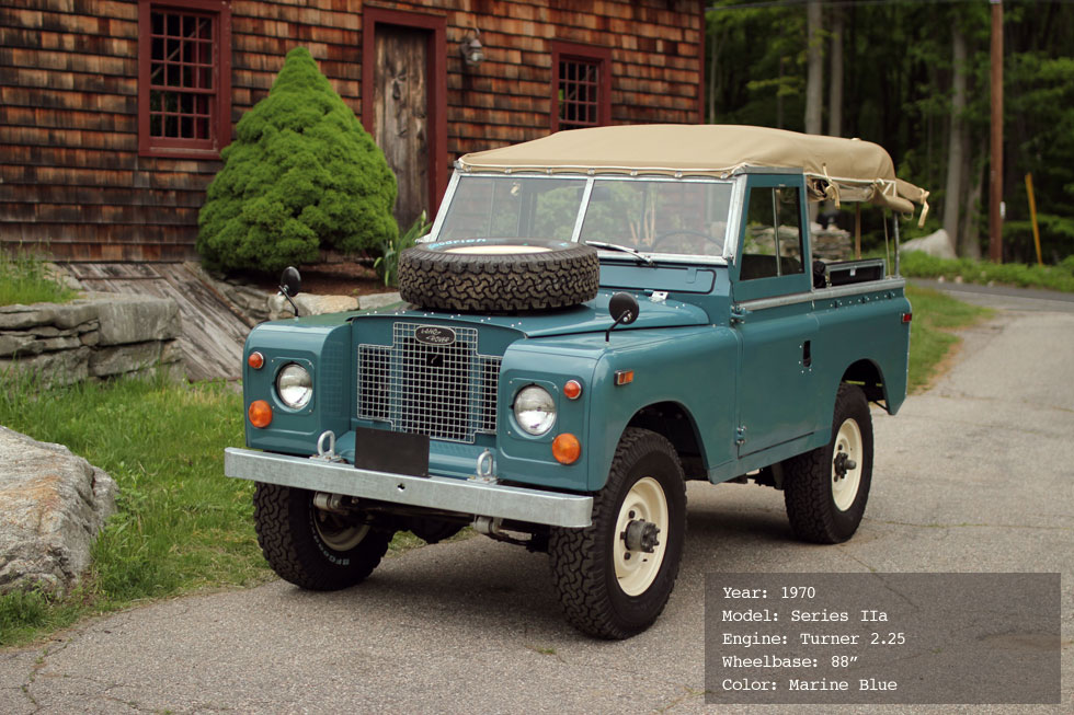 1970 Land Rover Series IIa Restoration Specifications