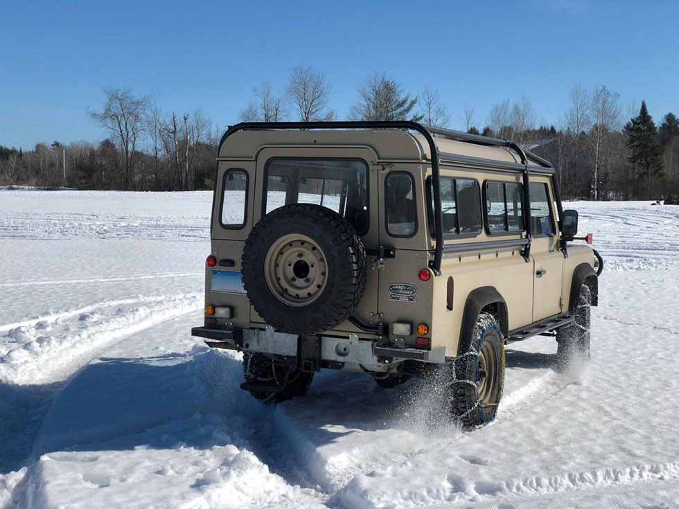 Overlanding in the snow.