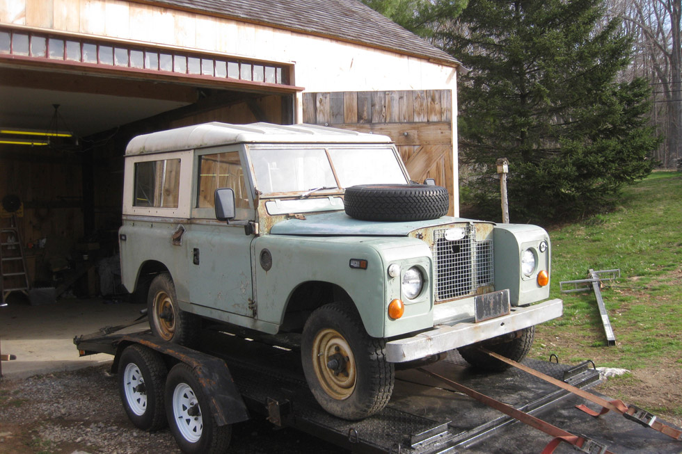 Original 1970 Land Rover Series IIA ready for restoration